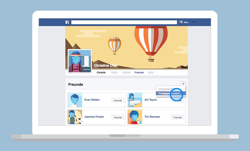 Facebook-Privatsphäre-Einstellungen: So versteckst du deine Facebook Freundesliste.